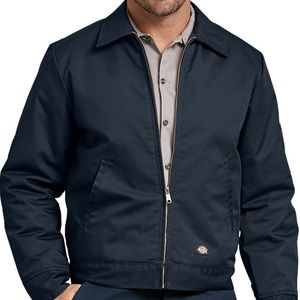 Dickies Jacket Zip Front Lined Quilted Blue 3XL